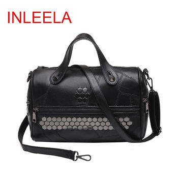 INLEELA New Arrival Patchwork Women Messenger Bag Fashion Hip-hop Bag Vintage Women Totes Large Handbag For Women