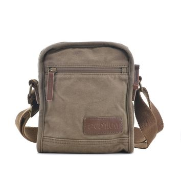 #40199 Small Canvas Messenger Bag