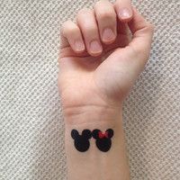 3-pack of Mickey and Minnie Temporary Tattoos