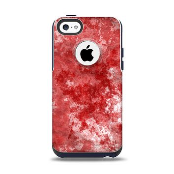 The Red Splotted Paint Texture Apple iPhone 5c Otterbox Commuter Case Skin Set