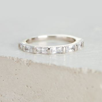 Baguette Eternity Band - Silver