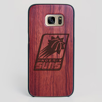 Phoenix Suns Galaxy S7 Edge Case - All Wood Everything