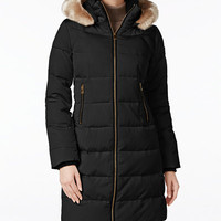 Vince Camuto Faux-Fur-Trim Hooded Puffer Coat - Vince Camuto - Women - Macy's