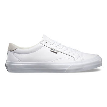 Vans Unisex Court + Leather True White