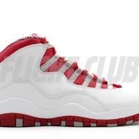 air jordan 10 retro - white/varsity red-light steel grey | Flight Club