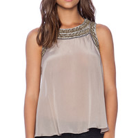 Parker Estee Top in Taupe