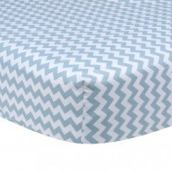 Trend Lab Blue Sky Chevron Crib Sheet