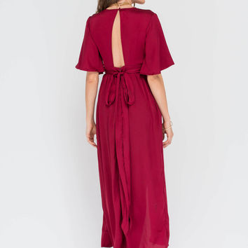 Luxe Life Plunging Satin Maxi