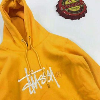 ESBV9O Stussy  Fashion Monogram Print Long Sleeve Hoodie Pullover Sweater G-JJ-LHYCWM
