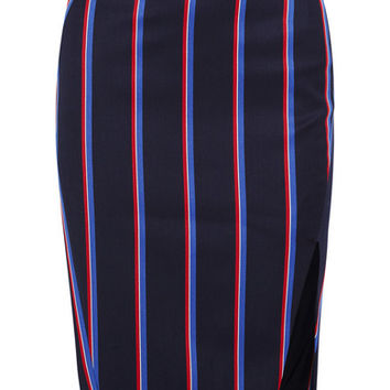 Altuzarra - Striped wool and cotton-blend skirt