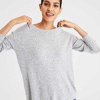AE Soft & Sexy Cross Back Pullover, Gray