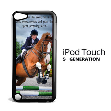 horse jumping photography Y2410 iPod Touch 5 Case