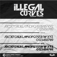 Illegal Curves Font by Weslo11 on deviantART