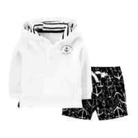 Carter's® Anchor Hoodie and Shorts Set – Baby Boys newborn-24m