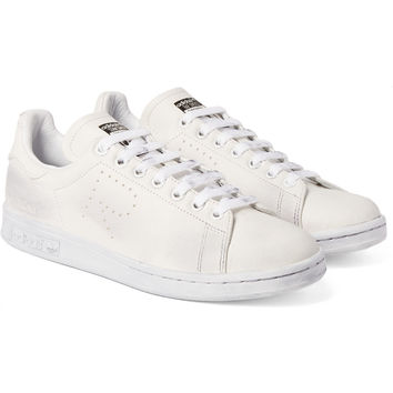 Raf Simons - + adidas Stan Smith Distressed Leather Sneakers  37bde8b10