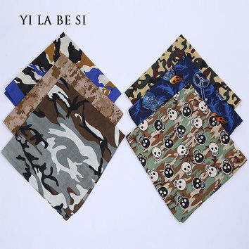 DCCKJG2 Free Shipping Camouflage Print hip-hop bandanas for Male female men women head scarf Scarves multi colour