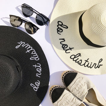 """Do Not Disturb"" Floppy Beach Hat"