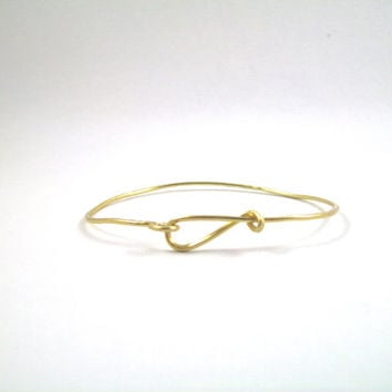 Gold Bangle Handmade,Hand Hammered, Wire Wrapped,One of a Kind