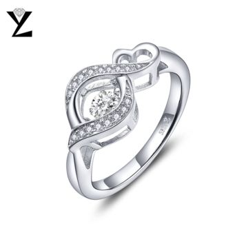 YL Dancing Topaz Engagement Rings for Women Fine Jewelry 925 Sterling Silver Wedding Best Friend Gift Ring Size 7