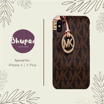 MICHAEL KORS LOGO BROWN IPHONE X