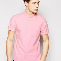 ASOS Oxford Shirt In light Pink With Short Sleeves
