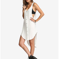 Hi-Lo Hooded Tank Top