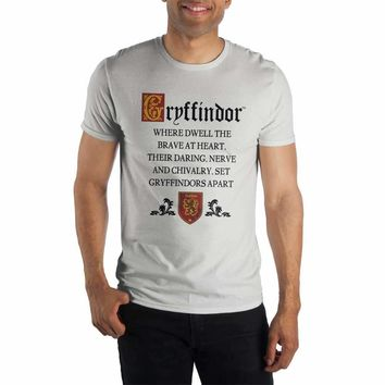 Harry Potter Gryffindor Cheer Sorting Hat's Song White T-Shirt