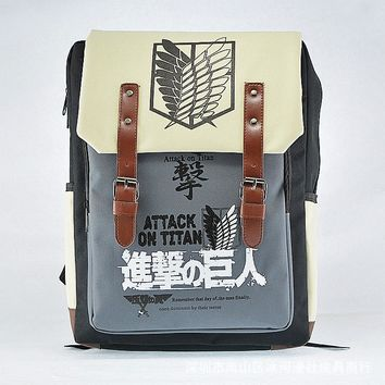 Cool Attack on Titan Japanese Anime Backpack Nylons School Bags  Women Backpack Men Bookbags Mochilas Waterproof Laptop Backpack Bags AT_90_11