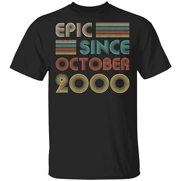 Epic Since October 2000 Vintage 20th Birthday Gifts