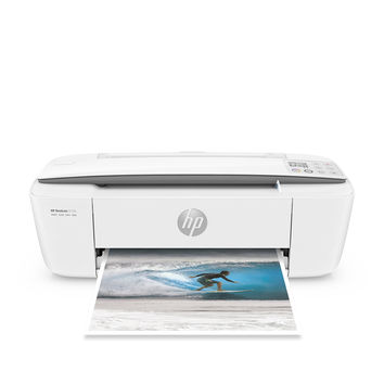 HP DeskJet 3755 Compact All-in-One Photo Printer with Wireless & Mobile Printing Instant Ink ready - Stone Accent (J9V91A)