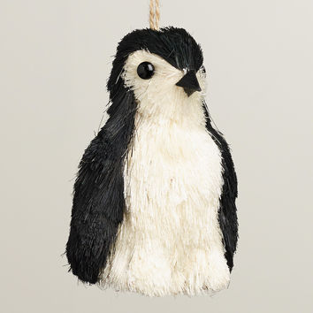 Natural Fiber Penguin Ornament - World Market