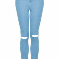 MOTO BLEACHED RIPPED JONI JEANS