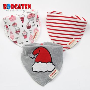 BORGATEN Brand Baby Accessories for Care Cheap Stuff Baby Girl Bibs Bandana Newborn Feeding Things Cotton Dribble Burp Cloth