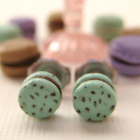 Delicate French Macaron Earrings in a Gorgeous by LittleWooStudio