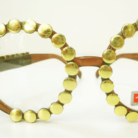 EyeGlasses Studded  with Gold Studs - made with Love