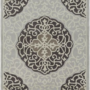 Surya Cosmopolitan Medallions and Damask Black COS-9291 Area Rug