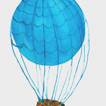 Contemporary Hot Air Balloon with a Basket Hand Embroidery Pattern