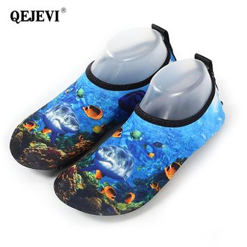 2018 QEJEVI Aqua Shoes Summer Swimming Water Shoes For Men Women Beach Shoes Yoga Slip-on Sneakers Breathable Barefoot Footwear