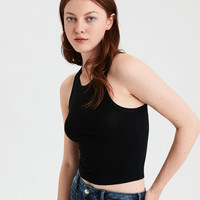 AE Soft & Sexy High Neck Tank Top, True Black
