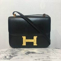 Hermes Black 'Constance 23' Shoulder Bag