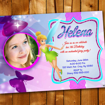 TinkerBell, Birthday Invitation, Birthday Party for little boy and little girl
