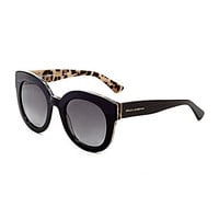 Dolce & Gabbana Polarized Glam Round Sunglasses