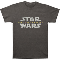 Star Wars Men's  Logo T-shirt Charcoal Rockabilia