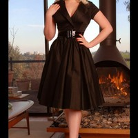 Birdie Party Dress in Black | Pinup Girl Clothing