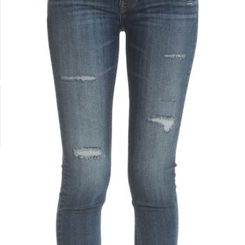 Vigoss Jagger Destructed Authentic Stretch Skinny Jeans