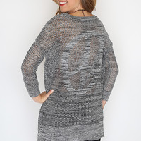 Peace Out Sweater - Grey