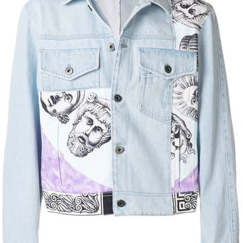 Crop Length Jean Jacket by Versace