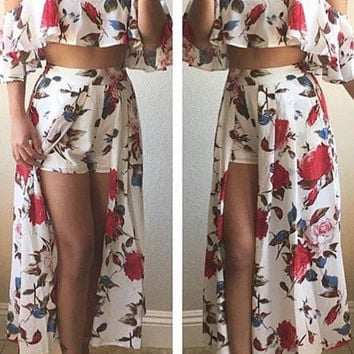 ROSES Two Pieces MAXI SET