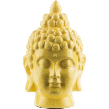 Surya Buddha Head Shelf Décor - Lemon