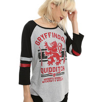 Harry Potter Gryffindor Quidditch Girls Raglan